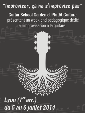 Stage été Guitar School garden 2014