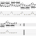Guitar licks – déplacement pentatonique horizontal