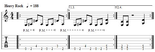 tablature Metallica : Through The Never