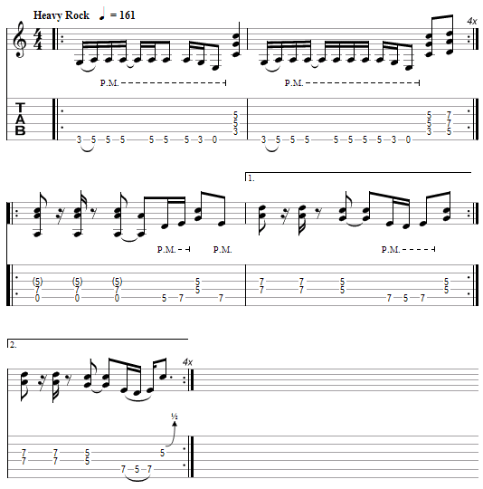 tablature Metallica : The Prince