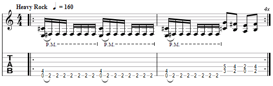 tablature Metallica : Trapped Under Ice