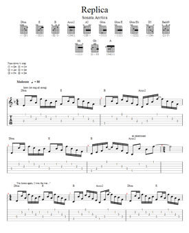 tablature du morceau Replica de Sonata Arctica