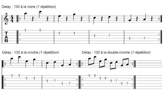 travailler le rythme avec un delay : exercice 2