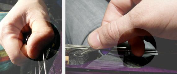 2 manières de produire une harmonique pinched