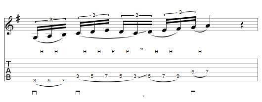 exercice préliminaire montée de gamme en legato