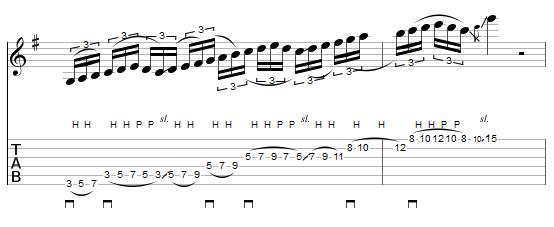 montée de gamme en legato