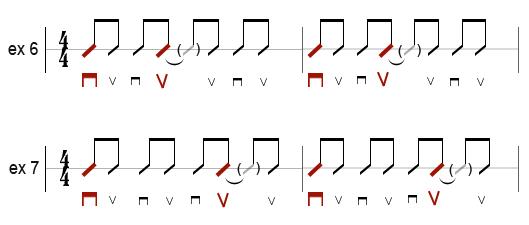 premiers rythmes : exercices 6 et 7
