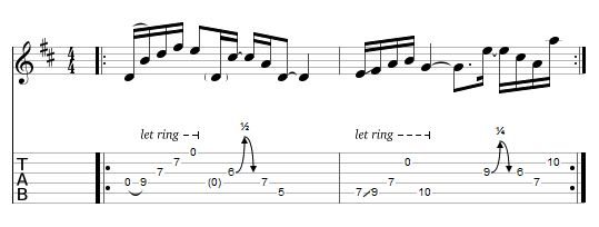 tablature : le Koto picking