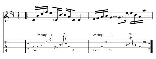 tablature : le Koto picking