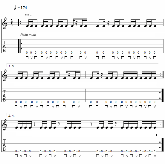 Tablature du riff By Your Command - Devin Townsend