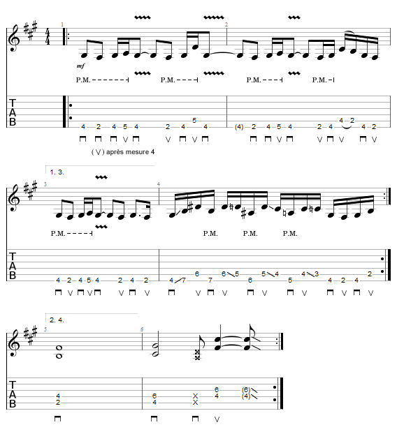 Tablature du riff Eve Of Seduction - Symphony X