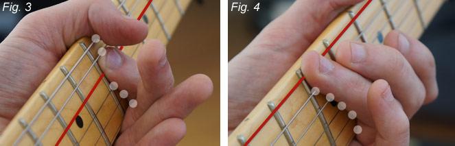 Muting - positions des doigts de la main gauche (part 2)