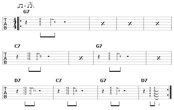 chicago blues - rhythm