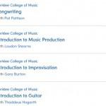 MOOC coursera : programme de Berklee