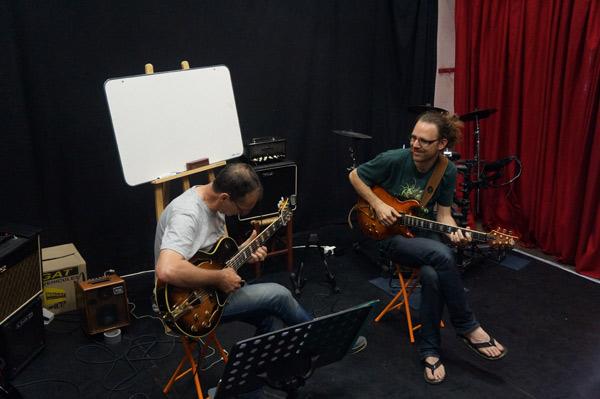 Stage improvisation Guitar School Garden