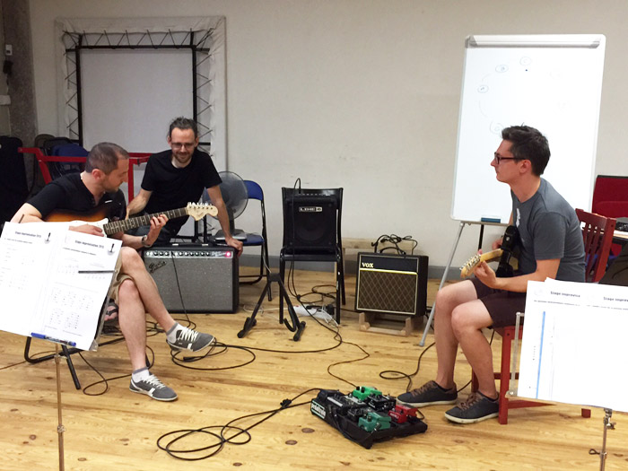 stage guitare et improvisation : mise en situation