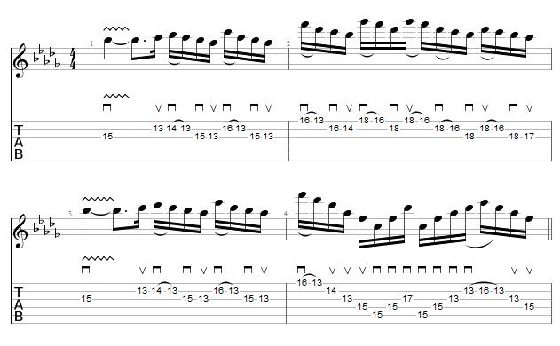 tablature sixpounder bridge - COB - part 1